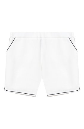 Детские хлопковые шорты LORO PIANA белого цвета, арт. FAL5915   Фото 1
