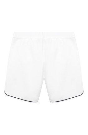 Детские хлопковые шорты LORO PIANA белого цвета, арт. FAL5915   Фото 2