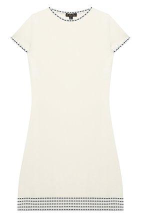 Детское шерстяное платье LORO PIANA белого цвета, арт. FAL5076 | Фото 1