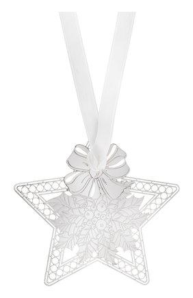 Елочная игрушка holly star CHRISTOFLE серебряного цвета, арт. 04254653 | Фото 1