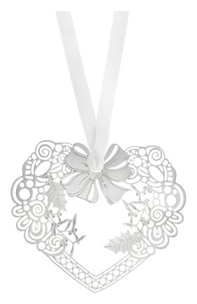 Елочная игрушка wood heart CHRISTOFLE серебряного цвета, арт. 04254654 | Фото 1