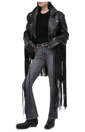 Женские джинсы 7 FOR ALL MANKIND серого цвета, арт. JSWBU790SG | Фото 2