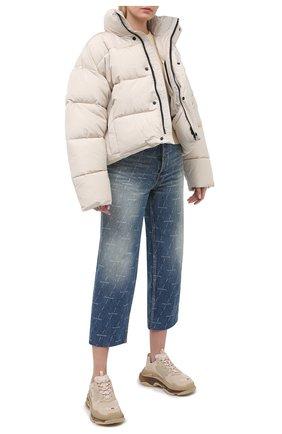 Женская пуховая куртка BALENCIAGA кремвого цвета, арт. 642227/TYD36   Фото 2