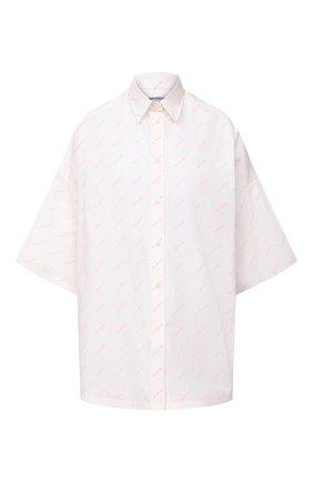 Женская хлопковая рубашка BALENCIAGA белого цвета, арт. 595038/TBL96 | Фото 1