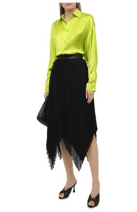 Женская шелковая рубашка BALENCIAGA зеленого цвета, арт. 623037/TJN07 | Фото 2