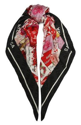 Женский шелковый платок BALENCIAGA разноцветного цвета, арт. 639443/310B3 | Фото 1