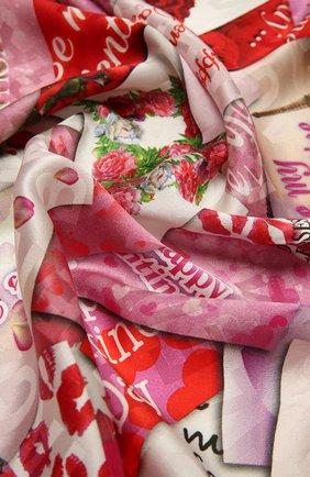 Женский шелковый платок BALENCIAGA разноцветного цвета, арт. 639443/310B3 | Фото 2