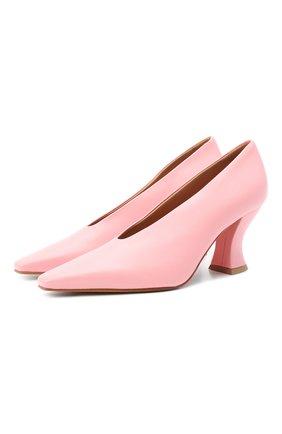 Женские кожаные туфли almond BOTTEGA VENETA розового цвета, арт. 608839/VBSD0   Фото 1
