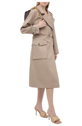 Женские кожаные мюли lido BOTTEGA VENETA бежевого цвета, арт. 608854/VBSS0 | Фото 2 (Материал внутренний: Натуральная кожа; Каблук тип: Шпилька; Каблук высота: Высокий; Подошва: Плоская)