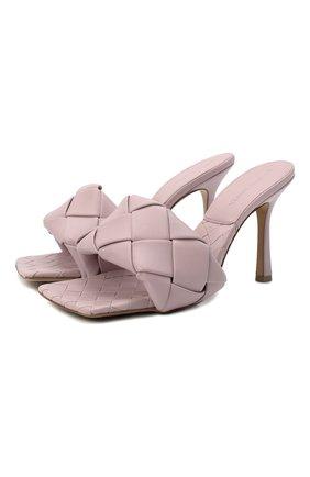 Женские кожаные мюли lido BOTTEGA VENETA светло-розового цвета, арт. 608854/VBSS0 | Фото 1