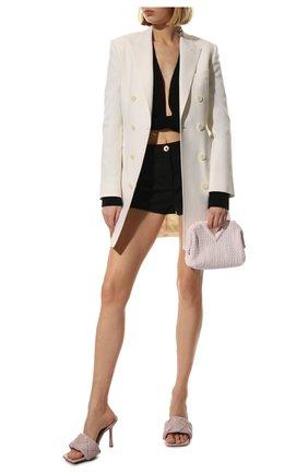 Женские кожаные мюли lido BOTTEGA VENETA светло-розового цвета, арт. 608854/VBSS0 | Фото 2