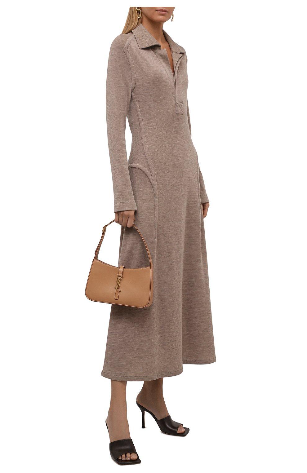 Женские кожаные мюли the stretch BOTTEGA VENETA коричневого цвета, арт. 610538/VBSF0 | Фото 2 (Каблук высота: Высокий; Материал внутренний: Натуральная кожа; Каблук тип: Шпилька; Подошва: Плоская)