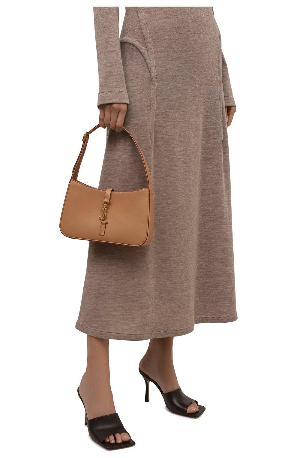 Женские кожаные мюли the stretch BOTTEGA VENETA коричневого цвета, арт. 610538/VBSF0 | Фото 3 (Каблук высота: Высокий; Материал внутренний: Натуральная кожа; Каблук тип: Шпилька; Подошва: Плоская)