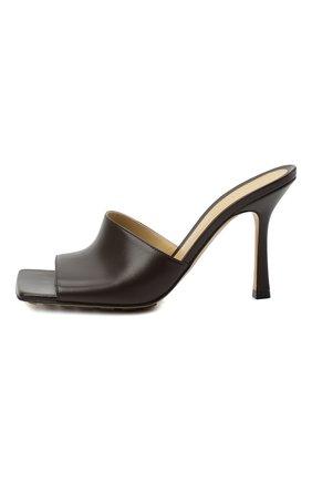 Женские кожаные мюли the stretch BOTTEGA VENETA коричневого цвета, арт. 610538/VBSF0 | Фото 4 (Каблук высота: Высокий; Материал внутренний: Натуральная кожа; Каблук тип: Шпилька; Подошва: Плоская)
