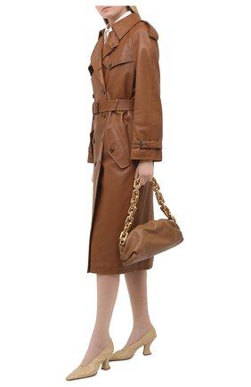 Женские кожаные туфли almond BOTTEGA VENETA бежевого цвета, арт. 651354/VBP10 | Фото 2