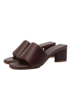 Женские кожаные мюли BOTTEGA VENETA темно-коричневого цвета, арт. 651378/VBSL0 | Фото 1