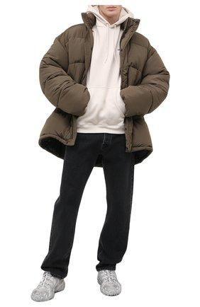 Мужской хлопковое худи BALENCIAGA кремвого цвета, арт. 600583/TJVA8 | Фото 2
