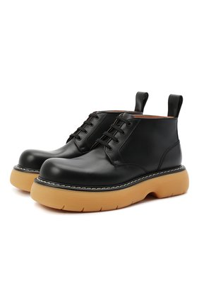 Мужские кожаные ботинки bounce BOTTEGA VENETA черного цвета, арт. 651256/V00H0 | Фото 1