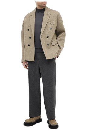 Мужские кожаные дерби bounce BOTTEGA VENETA бежевого цвета, арт. 651259/V00H0 | Фото 2 (Стили: Классический; Материал внутренний: Натуральная кожа)