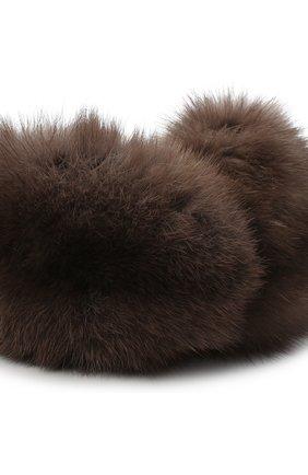 Женская наушники из меха норки и соболя KUSSENKOVV темно-серого цвета, арт. 990603503087   Фото 2 (Материал: Натуральный мех)