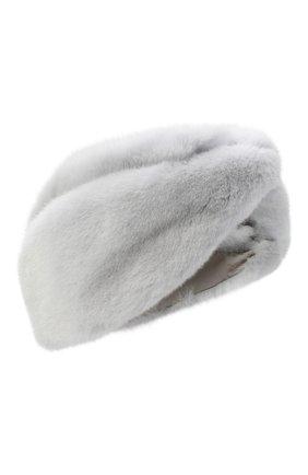 Женская повязка из меха норки KUSSENKOVV серого цвета, арт. 161600008019 | Фото 1