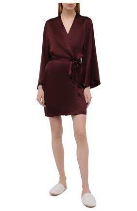 Женский халат MARJOLAINE бордового цвета, арт. Laser | Фото 2