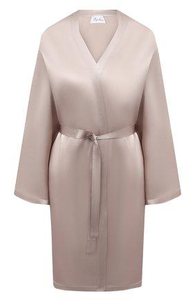 Женский халат MARJOLAINE светло-серого цвета, арт. Laser | Фото 1