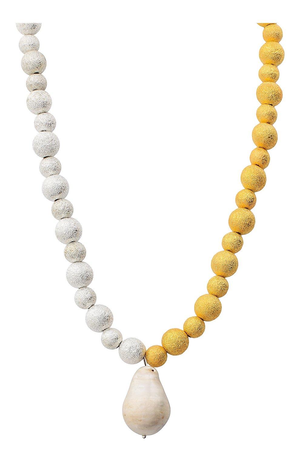Женское колье золотая лава HIAYNDERFYT разноцветного цвета, арт. 1421.3.2   Фото 2