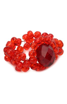 Женское кольцо хэппи нью йер HIAYNDERFYT красного цвета, арт. 1421.1.2 | Фото 1