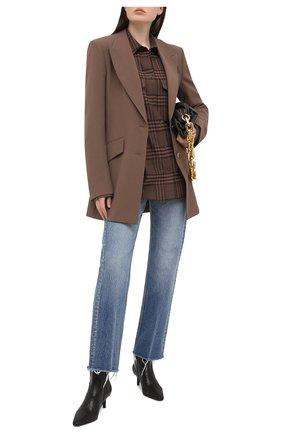 Женские кожаные ботильоны BRUNELLO CUCINELLI темно-коричневого цвета, арт. MZLIC1880 | Фото 2