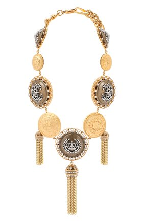 Женское колье DOLCE & GABBANA золотого цвета, арт. WNM6M3/W1111   Фото 1