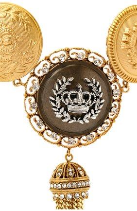 Женское колье DOLCE & GABBANA золотого цвета, арт. WNM6M3/W1111   Фото 2