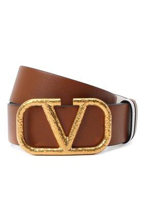 Женский кожаный ремень  VALENTINO коричневого цвета, арт. VW2T0S11/TAL | Фото 1 (Материал: Кожа)