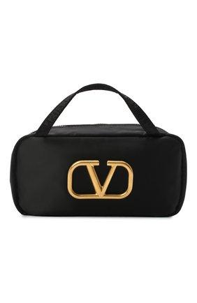 Женская текстильная косметичка  VALENTINO черного цвета, арт. VW2P0V56/JMI   Фото 1