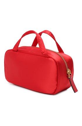 Женская текстильная косметичка  VALENTINO красного цвета, арт. VW2P0V55/JMI   Фото 2