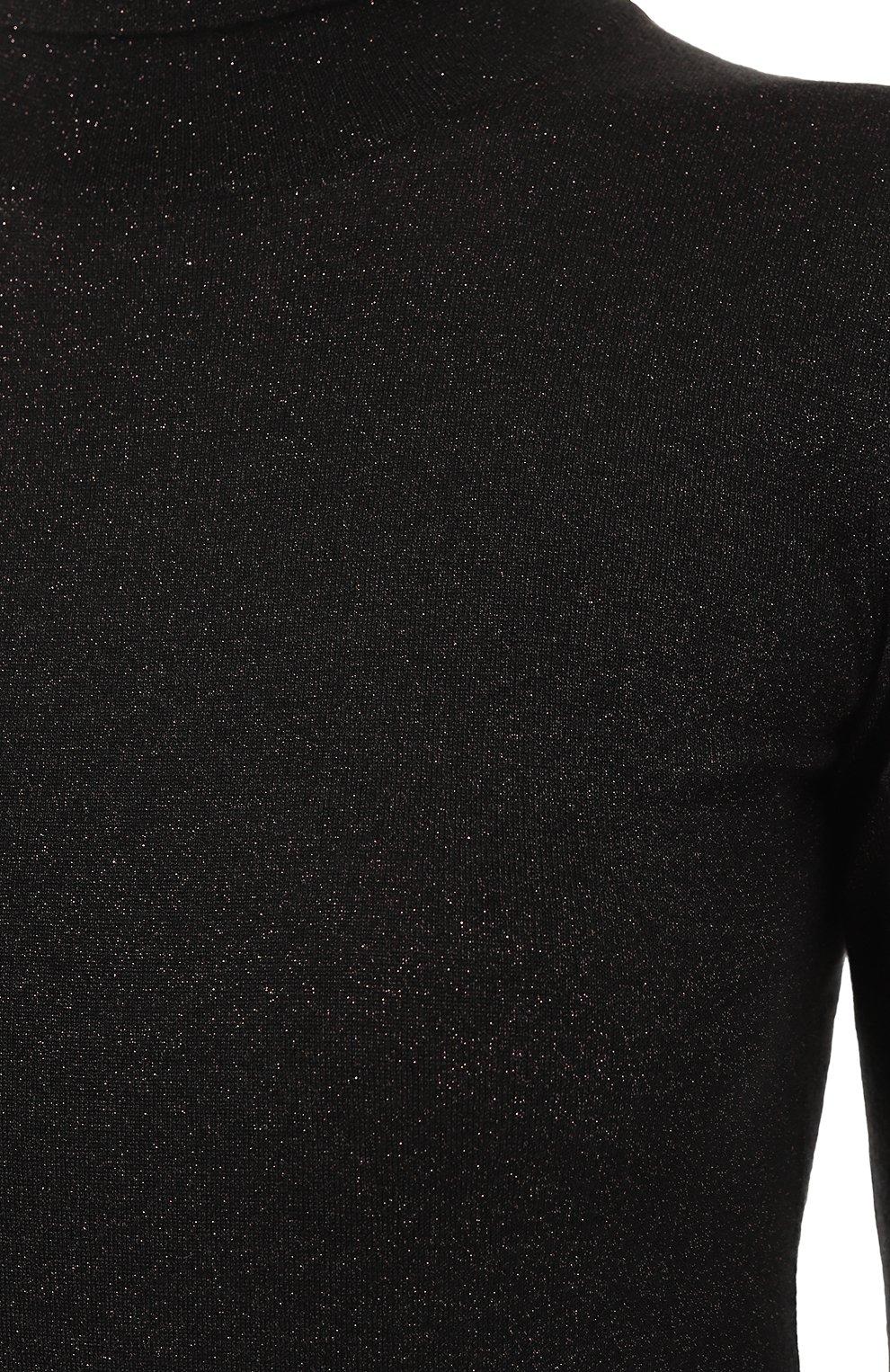 Женская водолазка из кашемира и шелка BRUNELLO CUCINELLI темно-серого цвета, арт. M41800063 | Фото 5