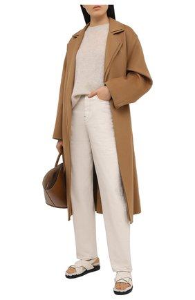 Женский пуловер BRUNELLO CUCINELLI золотого цвета, арт. M2U181700   Фото 2 (Женское Кросс-КТ: Пуловер-одежда; Длина (для топов): Стандартные; Стили: Классический; Рукава: Длинные; Материал внешний: Шерсть)