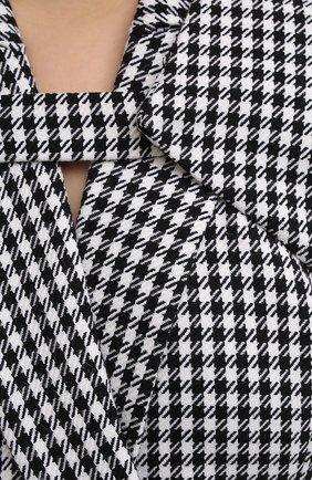 Женское платье из хлопка и шерсти DAVID KOMA черно-белого цвета, арт. AW20DK02D | Фото 5