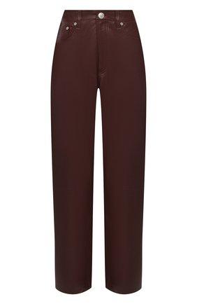 Женские кожаные брюки RAG&BONE коричневого цвета, арт. WCW20F7003LG03 | Фото 1