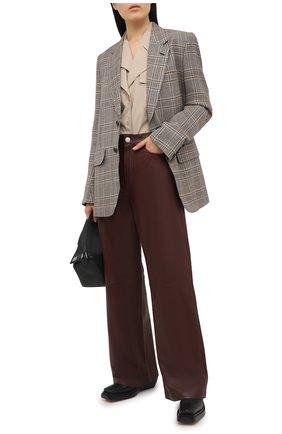 Женские кожаные брюки RAG&BONE коричневого цвета, арт. WCW20F7003LG03 | Фото 2