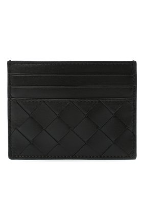 Женский кожаный футляр для кредитных карт BOTTEGA VENETA черного цвета, арт. 635042/VCPP3   Фото 1