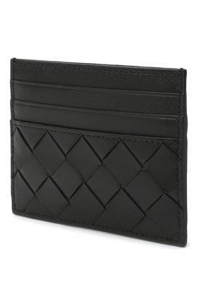 Женский кожаный футляр для кредитных карт BOTTEGA VENETA черного цвета, арт. 635042/VCPP3   Фото 2