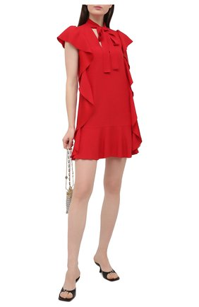 Женское платье REDVALENTINO красного цвета, арт. VR3VAW95/0F1 | Фото 2