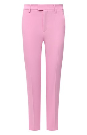Женские брюки REDVALENTINO светло-розового цвета, арт. VR3RB0B0/2EU   Фото 1 (Стили: Романтичный; Материал внешний: Вискоза, Синтетический материал; Силуэт Ж (брюки и джинсы): Узкие; Случай: Формальный; Длина (брюки, джинсы): Укороченные; Женское Кросс-КТ: Брюки-одежда)