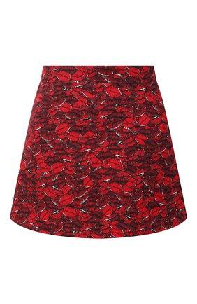Женская юбка-шорты из шерсти и шелка VALENTINO красного цвета, арт. VB3RA76665M | Фото 1