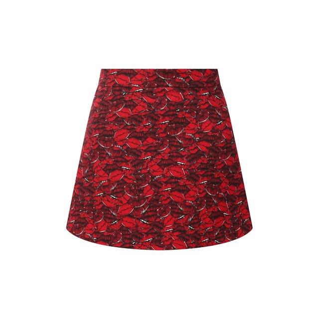 Юбка-шорты из шерсти и шелка Valentino