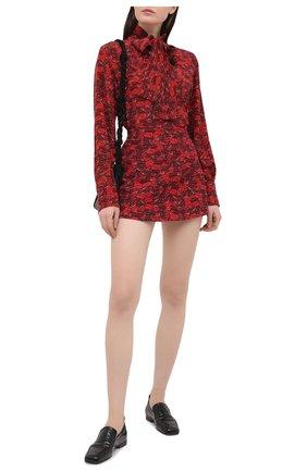 Женская юбка-шорты из шерсти и шелка VALENTINO красного цвета, арт. VB3RA76665M | Фото 2