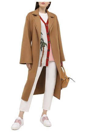 Женские кожаные кеды valentino garavani open VALENTINO светло-розового цвета, арт. VW2S0781/BLU   Фото 2