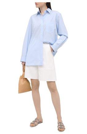 Женские кожаные шлепанцы rockstud VALENTINO серебряного цвета, арт. VW2S0C49/LBD | Фото 2