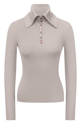 Женский шерстяной пуловер DEVEAUX NEW YORK бежевого цвета, арт. F203-707-CR1 | Фото 1